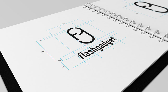 Native logo design Flashgadget